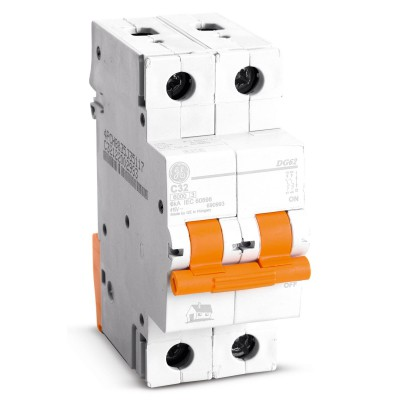 Interruptor termomagn tico 2 x 50 a general electric maestro for Diferencial general electric