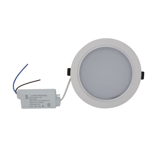 Downlight Empotrable Redondo 20 W Luz Fría